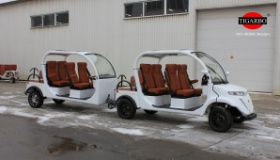 Пассажирский полуприцеп для электромобилей